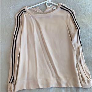Jcrew pink silk top size 6